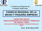 I Conferencia Regional de Consejos Regionales