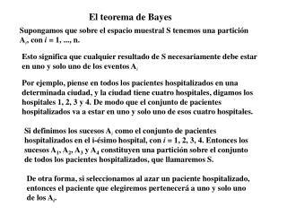 El teorema de Bayes