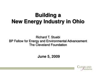 Building a  New Energy Industry in Ohio