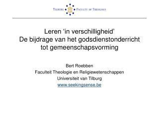 Leren  in verschilligheid  De bijdrage van het godsdienstonderricht tot gemeenschapsvorming