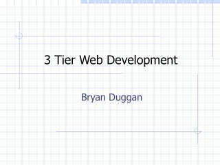 3 Tier Web Development