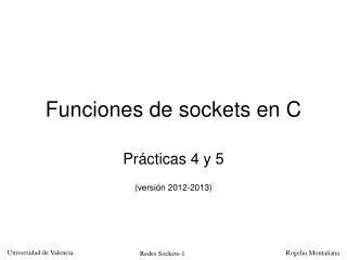 Funciones de sockets en C