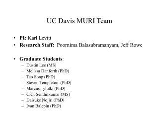 UC Davis MURI Team