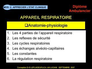 Anatomie-physiologie