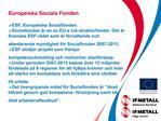 Europeiska Sociala Fonden