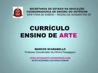 CURR CULO  ENSINO DE ARTE