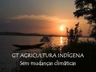 GT AGRICULTURA IND GENA Sem mudan as clim ticas