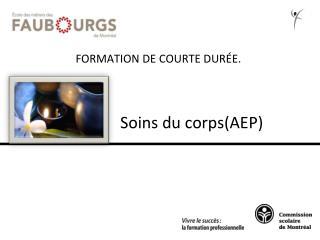 FORMATION DE COURTE DUR E.