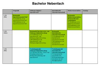 Bachelor Nebenfach
