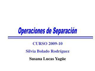 Operaciones de Separaci n