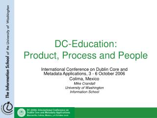 DC-Education: Product, Process and People