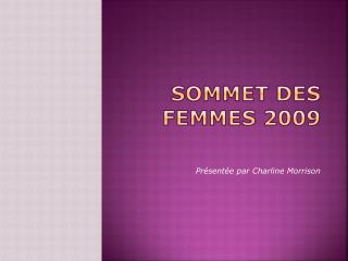 Sommet des femmes 2009