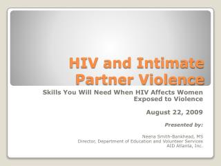 HIV and Intimate Partner Violence