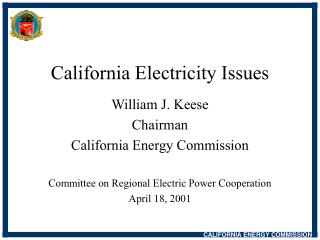 California Electricity Issues