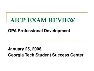 AICP EXAM REVIEW