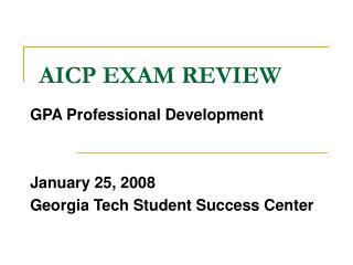 AICP EXAM REVIEW
