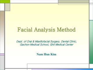 Facial Analysis Method