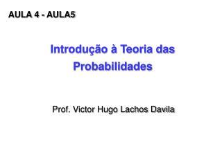 Introdu  o   Teoria das Probabilidades