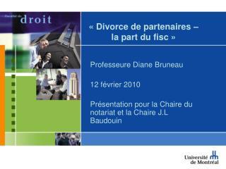 Divorce de partenaires    la part du fisc