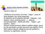 REPASO PARA PRIMER EXAMEN