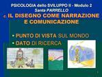 PSICOLOGIA dello SVILUPPO II - Modulo 2 Santa PARRELLO c. IL DISEGNO COME NARRAZIONE E COMUNICAZIONE