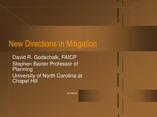 New Directions in Mitigation