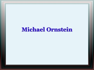 Michael Ornstein New York