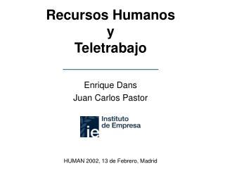 Recursos Humanos y Teletrabajo