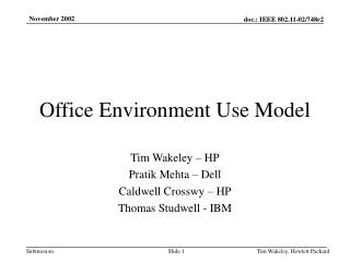 Hewlett-Packard presentation III