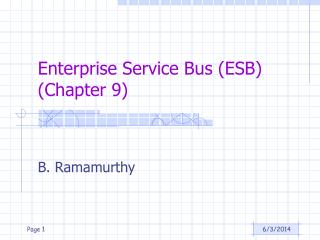 Enterprise Service Bus ESB Chapter 9