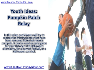 Youth Ideas: Pumpkin Patch Relay