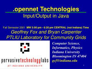 .opennet Technologies Input