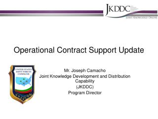 Operational Contract Support Update