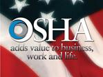 ASSE   KITTYHAWK CHAPTER OSHA UPDATE