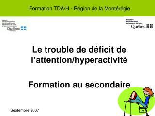Formation TDA