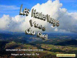 Vosges vues du ciel