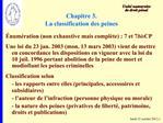 Chapitre 3. La classification des peines