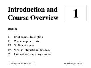 Introduction and Course Overview