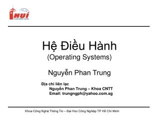 H  iu H nh Operating Systems