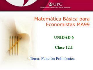 Matem tica B sica para Economistas MA99
