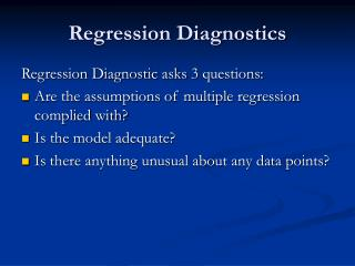 Regression Diagnostics
