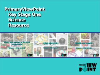 PrimaryViewPoint Key Stage One Science Resource