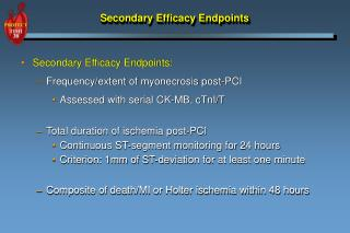 Secondary Efficacy Endpoints