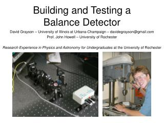Building and Testing a Balance Detector