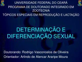 DETERMINA  O E DIFERENCIA  O SEXUAL