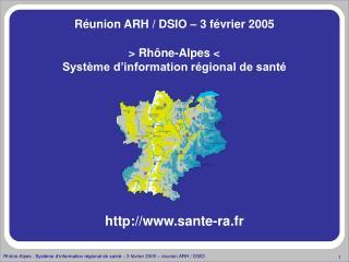 Rh ne-Alpes  Syst me d information r gional de sant