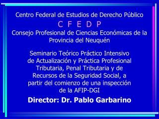 Centro Federal de Estudios de Derecho P blico C  F  E  D  P  Consejo Profesional de Ciencias Econ micas de la Provincia