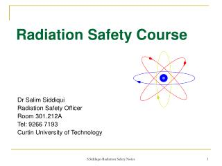 Radiation Safety Course
