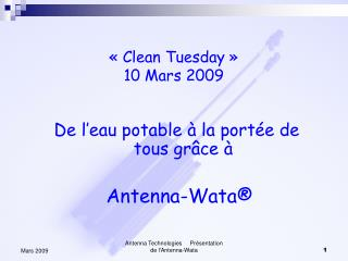 Clean Tuesday    10 Mars 2009