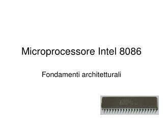 Microprocessore Intel 8086